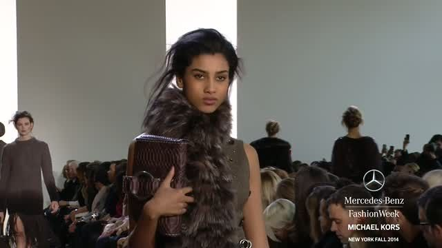 News video: MICHAEL KORS: MERCEDES-BENZ FASHION WEEK Fall 2014 COLLECTIONS