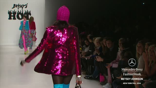 News video: BETSEY JOHNSON: MERCEDES-BENZ FASHION WEEK Fall 2014 COLLECTIONS