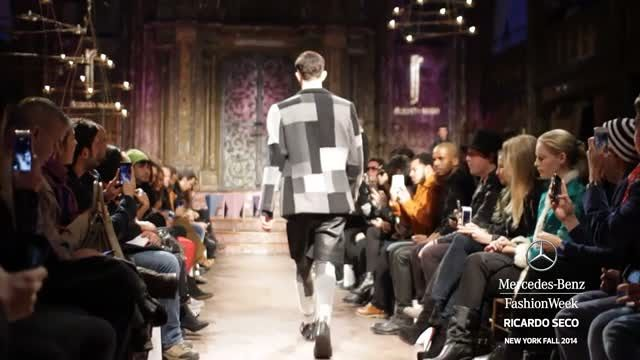 News video: RICARDO SECO: MERCEDES-BENZ FASHION WEEK Fall 2014 COLLECTIONS